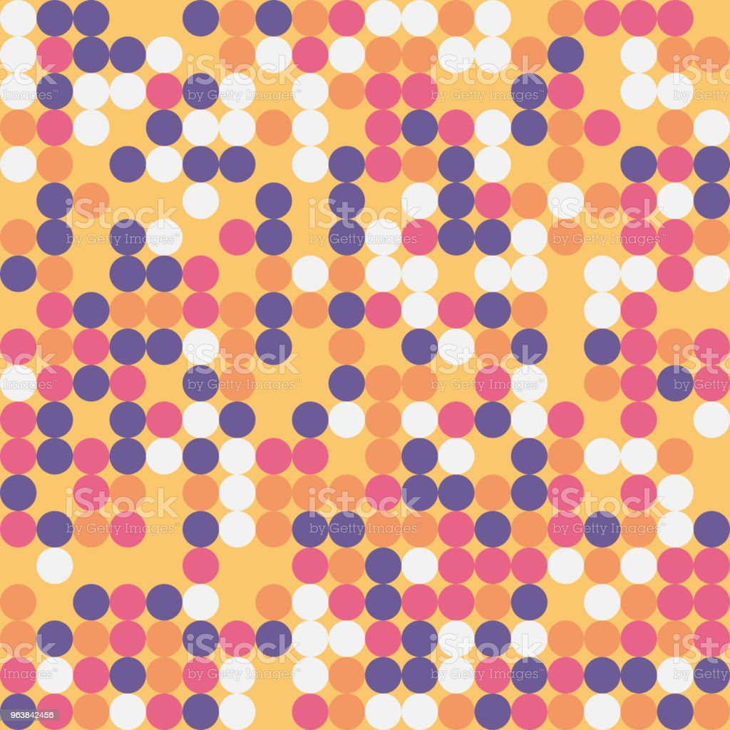 Random colored abstract geometric mosaic pattern background - Royalty-free Abstract stock vector