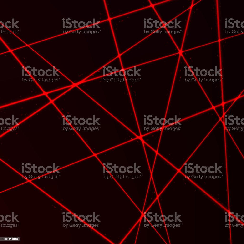 Random Laser Mesh. Security red beams. Vector illustration isolated on dark background royalty-free random laser mesh security red beams vector illustration isolated on dark background stock illustration - download image now