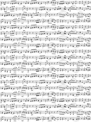 Random musical notes sheet seamless background. Seamless vector pattern.