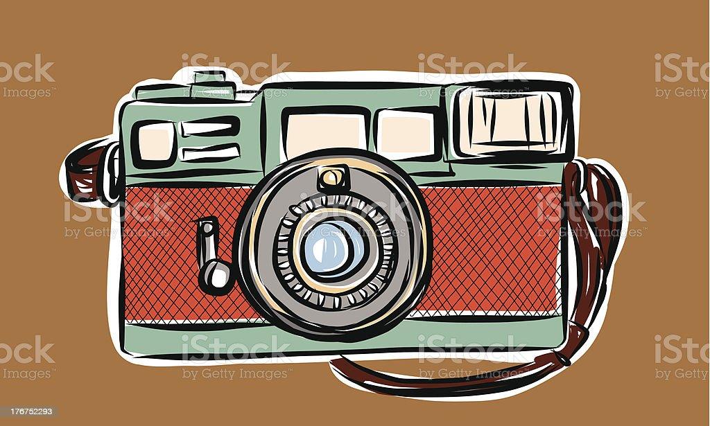 Rangefinder camera royalty-free stock vector art