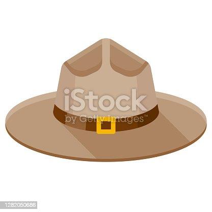 istock Ranger Hat Icon on Transparent Background 1282050686