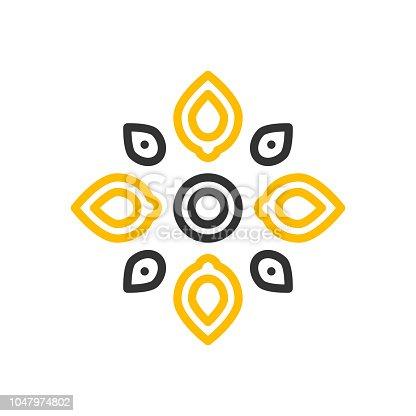 Ilustración de Diseño De Icono De Vector Mínimo De Rangoli ...
