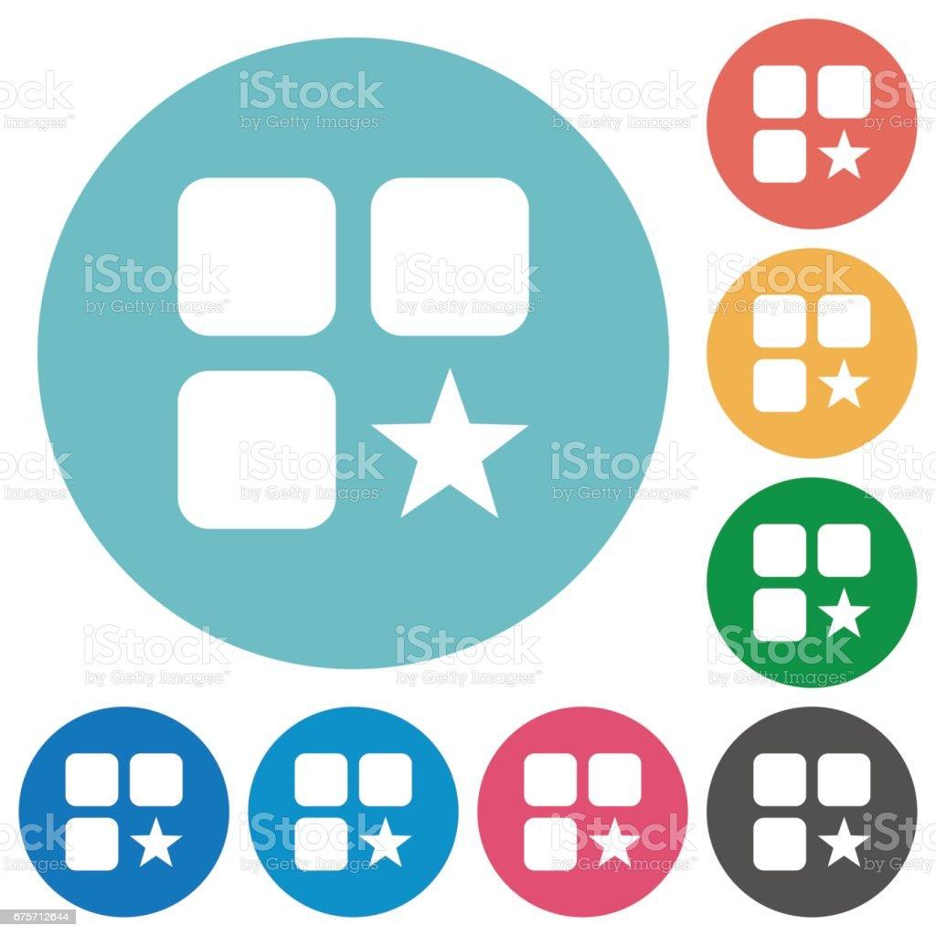 Rank component flat round icons 免版稅 rank component flat round icons 向量插圖及更多 主題 圖片