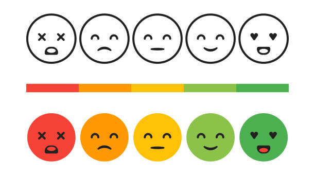 Rank, level of satisfaction rating. Feedback emotions, smileys, vector concept illustration. User experience. Review of consumer Rank, level of satisfaction rating. Feedback emotions, smileys, vector concept illustration. User experience. Review of consumer. infamous stock illustrations