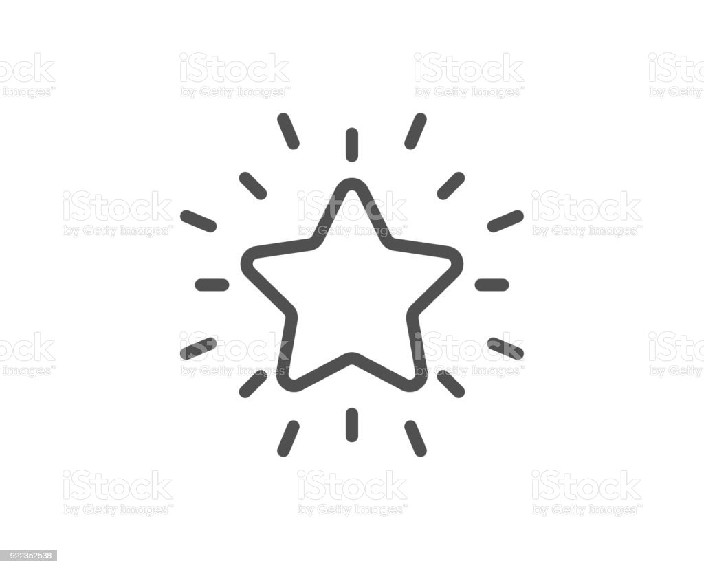 Rang Sterne Liniensymbol. Erfolg belohnen. – Vektorgrafik