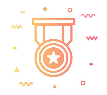 Ranking Line Style Icon Design