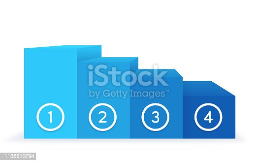 Ranking scale or bar graph with space for your copy.