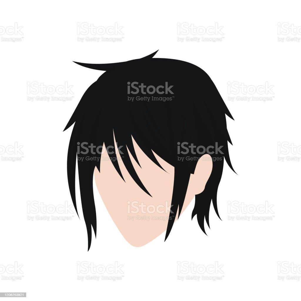 Vetores De Raphic Design Hairstyle Men Illustration Vector On Anime Ou Comic Style Man Hair Style Logo Vetor E Mais Imagens De Abstrato Istock