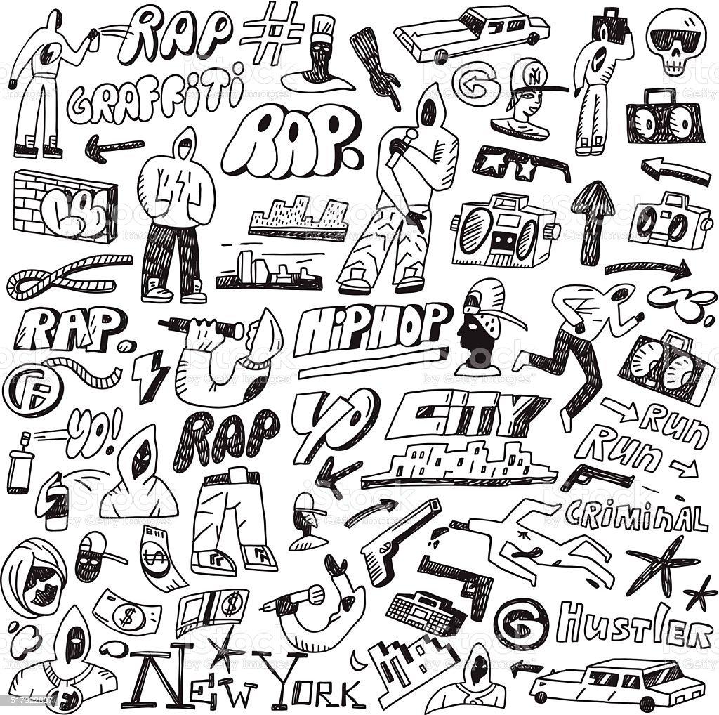 Rap E Hip Hop E Dai Graffitiset Di Disegni E Schizzi Immagini