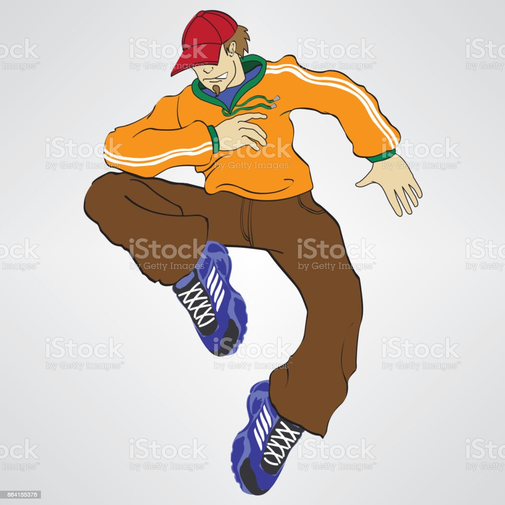 Rapper Boy Vector royalty-free rapper boy vector stock vector art & more images of activity
