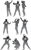 Rapper in various poses