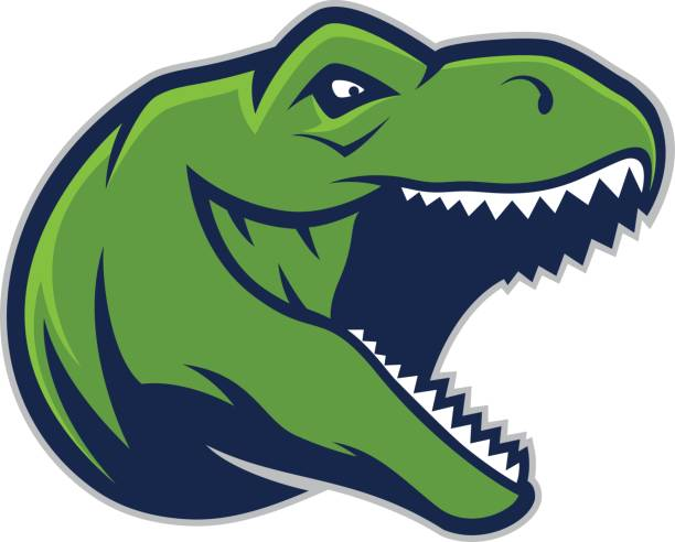 raptor head mascot 2 - high school sports stock illustrations