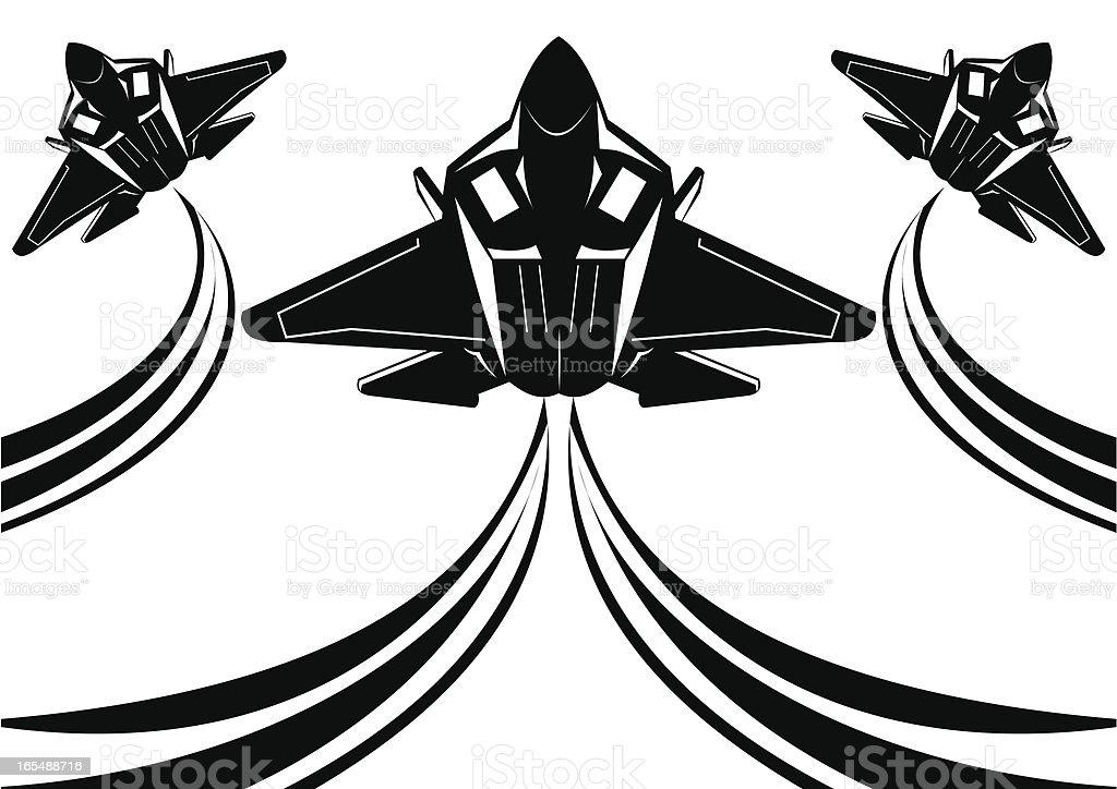F22 raptor II vector art illustration