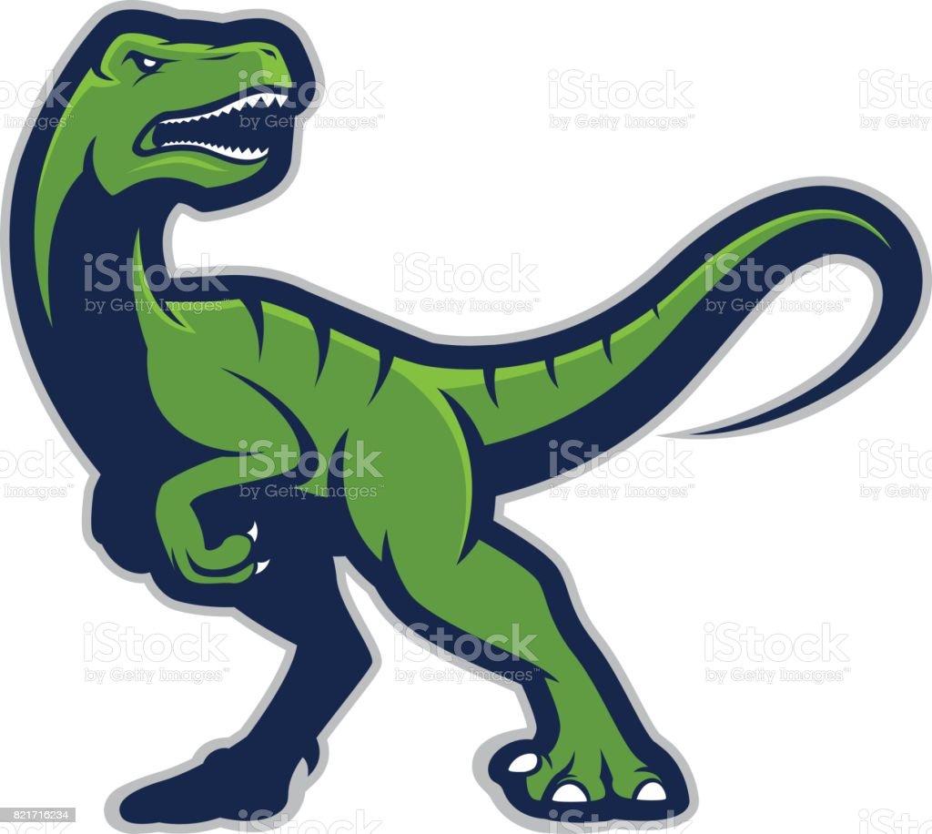 Raptor mascot logo vector art illustration