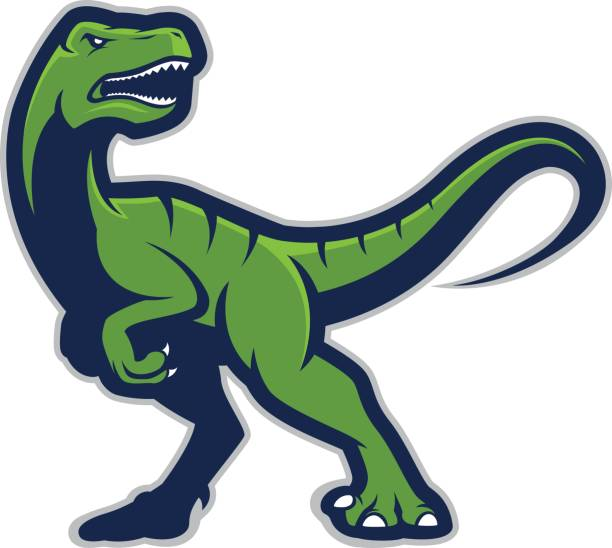raptor mascot logo - high school sports stock illustrations