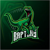 Illustration of Raptor sport mascot  design