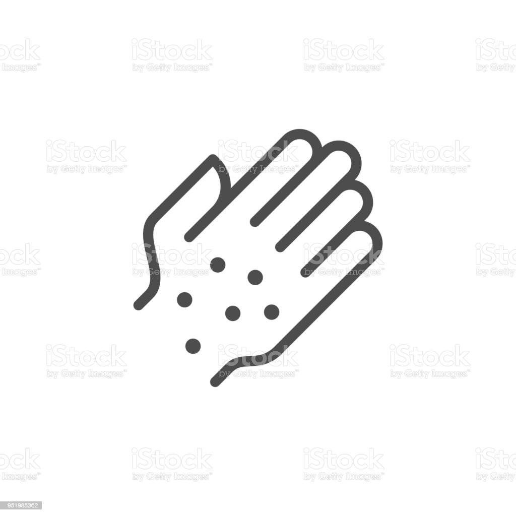 Ausschlag Liniensymbol – Vektorgrafik