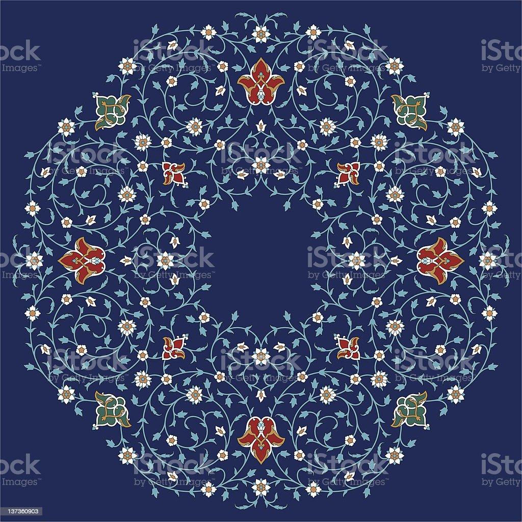 Rashid Floral Ornament royalty-free stock vector art