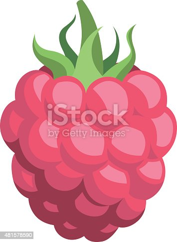 Vector cartoon of a raspberry