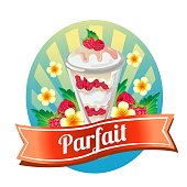 raspberry parfait labels