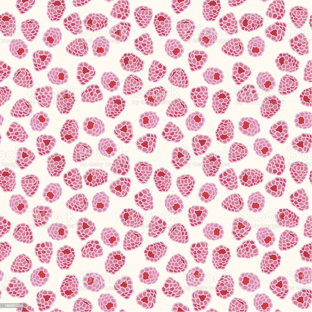 Raspberry seamless pattern royalty-free stock vector art