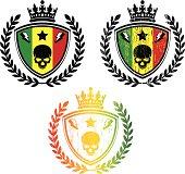 rastafari colors emblme, set of 3 combinations.