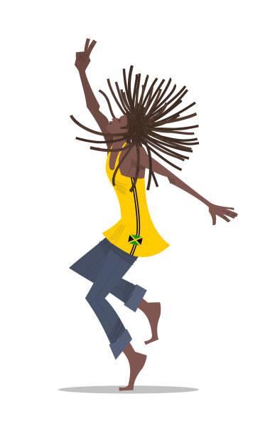 Homem Rastafári - ilustração de arte em vetor