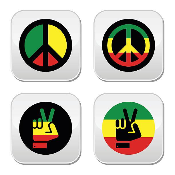 Royalty Free Rastafarian Hand Symbols Clip Art Vector Images