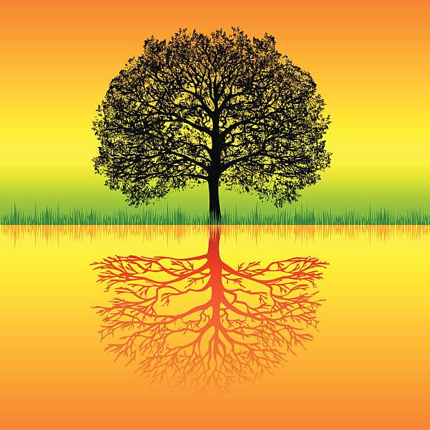 Rasta Tree vector art illustration