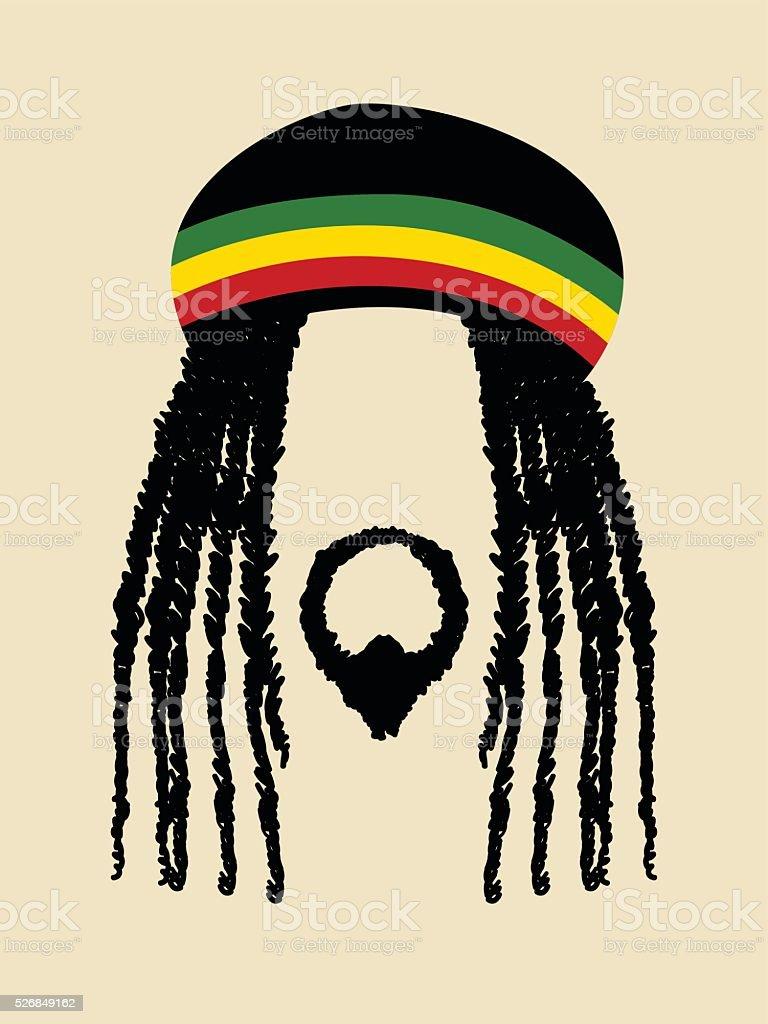 Rastafari - ilustración de arte vectorial