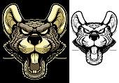 Rat Mascot Head