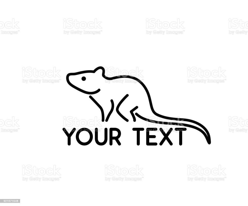 Ilustración de Rata Ratón Animal Línea Símbolo Diseño y más banco de ...