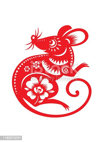 Rat Papercut, rat paper-cut, Year of the rat, 2020, happy new year, lunar new year, chinese new year