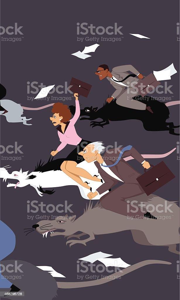 Rat race -refrán en inglés - ilustración de arte vectorial