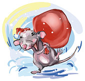 Rat symbol of the new year 2020, vector