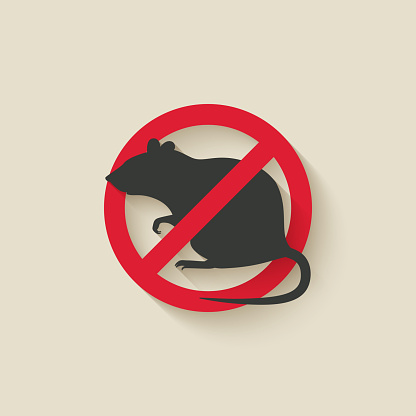 Rat Warning Sign向量圖形及更多側影圖片