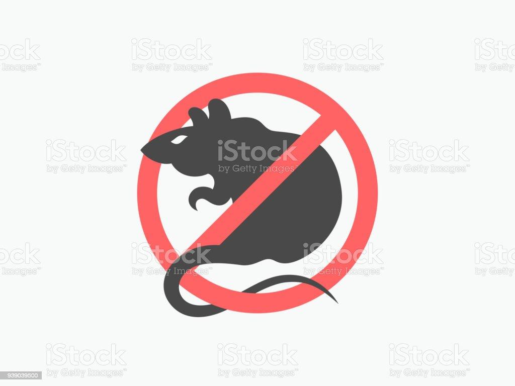 鼠警告向量符號 - 免版稅俄羅斯圖庫向量圖形