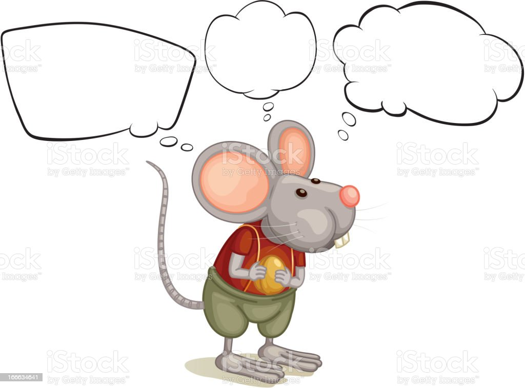 Rat with empty callouts royalty-free stock vector art