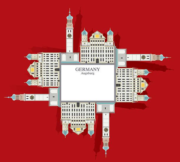 Town Hall Tower in Augsburg – Vektorgrafik