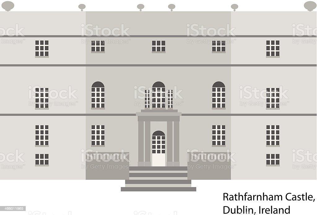Rathfarnham Castle in Dublin royalty-free stock vector art