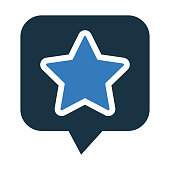 Rating, recommended icon - Perfect use for print media, web, stock images, commercial use or any kind of design project.
