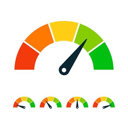 Rating Speed Meter Set - Vector Stock Illustration