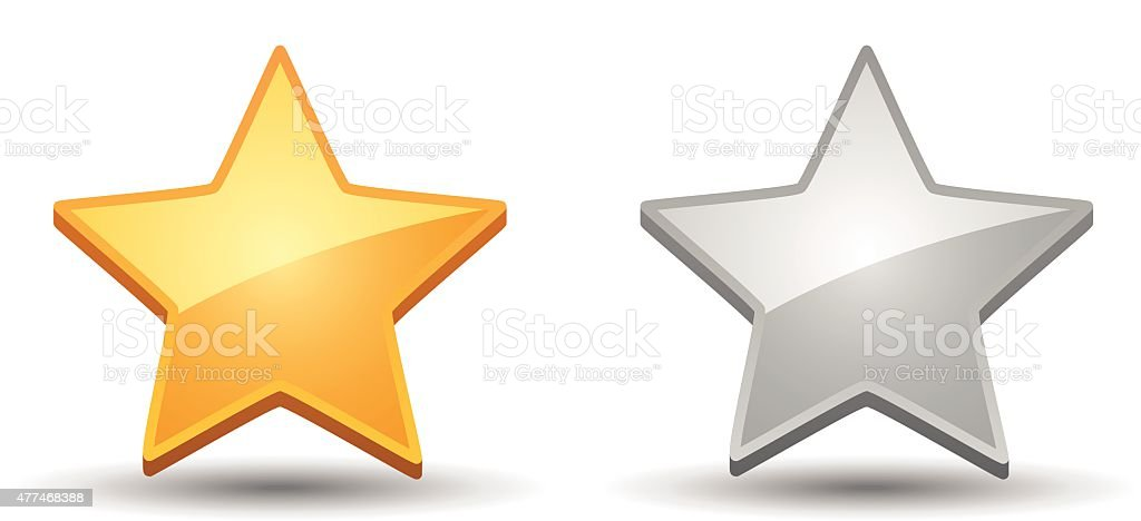 Rating Star Icons on white background vector art illustration