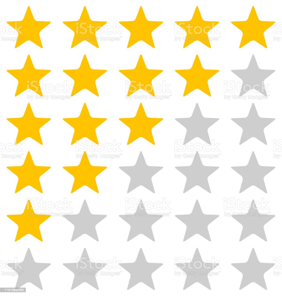 Rating Stars Illustration On White Background - Векторная графика Абстрактный роялти-фри
