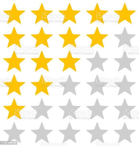 Rating Stars Illustration On White Background — стоковая векторная графика и другие изображения на тему Абстрактный