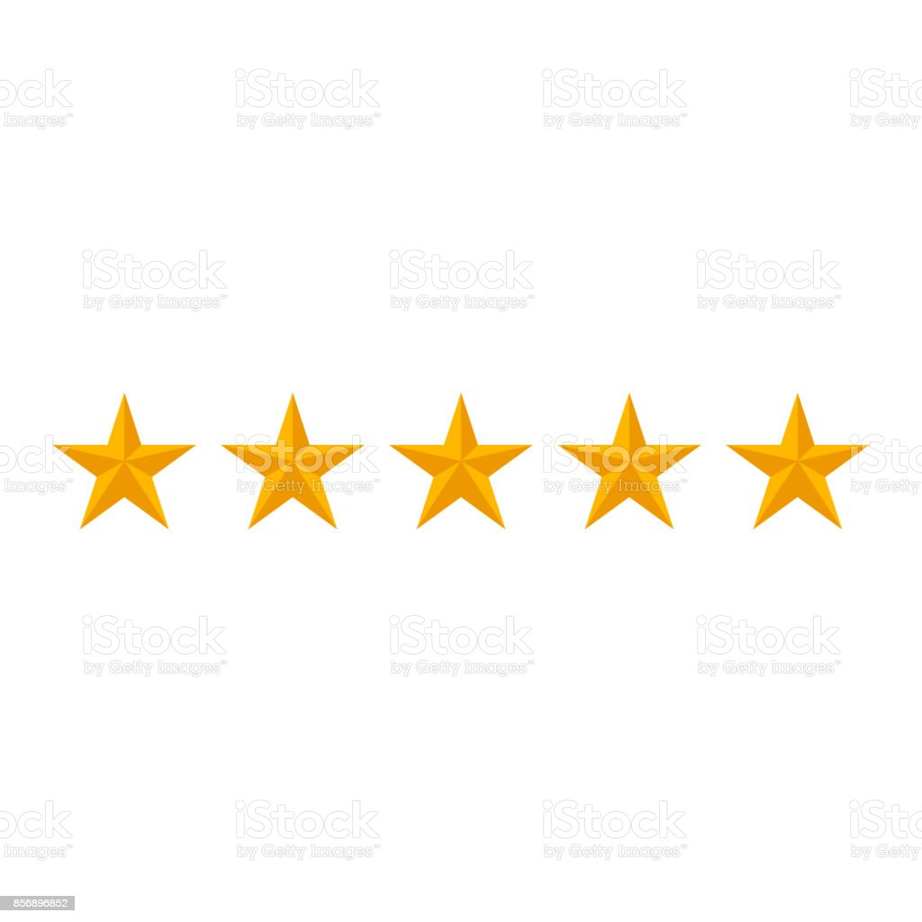 rating stars isolated on white background vector art illustration