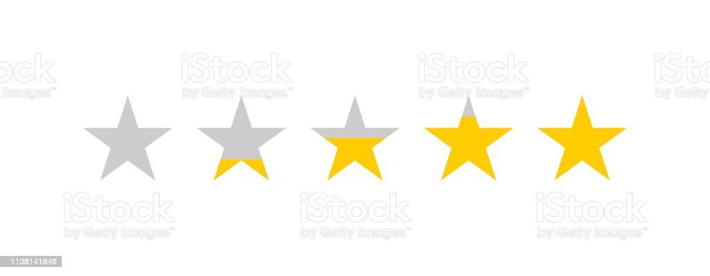Rating stars. Star review rating. Feedback concept. Five stars...