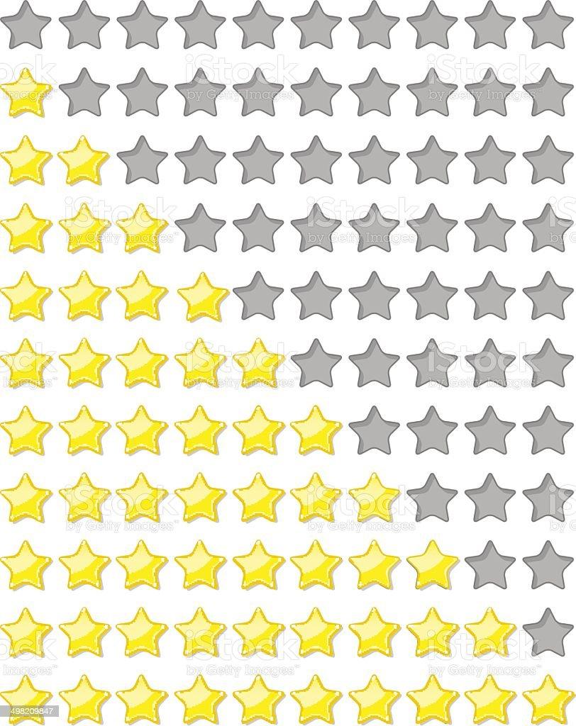 rating stars vector art illustration