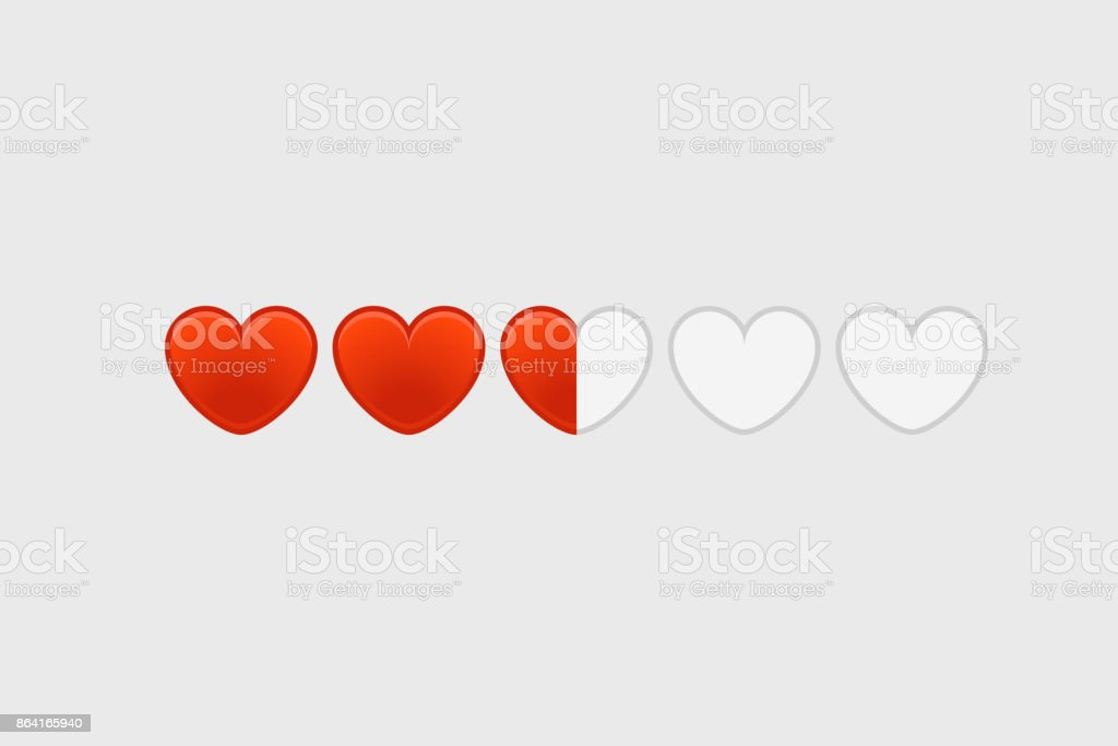 Rating template. Red hearts rating vector layout royalty-free rating template red hearts rating vector layout stock vector art & more images of award