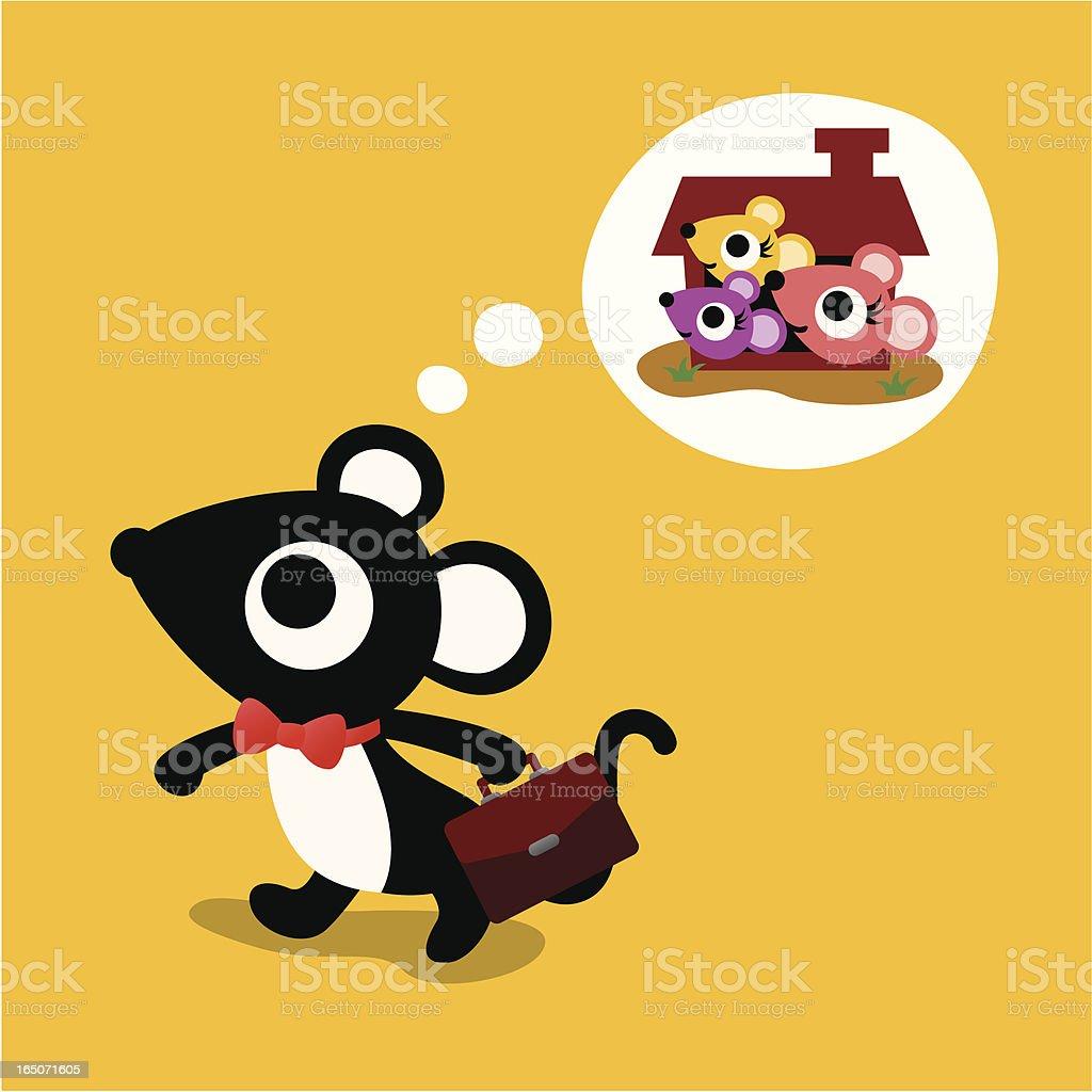 rat's family royalty-free stock vector art